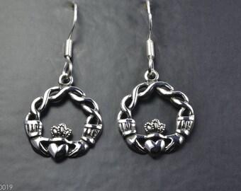 Claddagh Sterling Silver Earrings