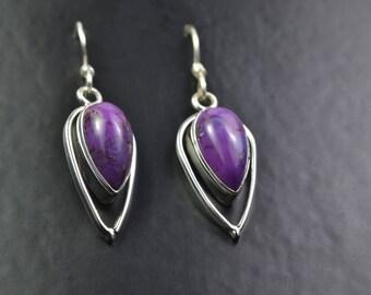 Sterling Silver Earrings with Semi Precious Gemstone