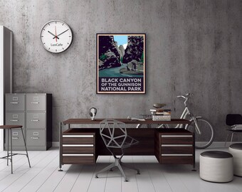 Black Canyon of the Gunnison National Park Wood Print