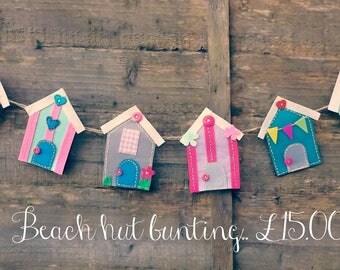 SALE, Bunting, Nautical Bunting, Beach Hut, Home Decor, Nursery Decor, Baby shower gift, Baby room, Brighton themed, Beach themed, Wall hang