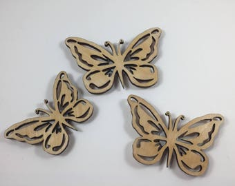 Butterfly Magnets Set of 3