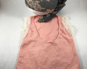 Newborn romper and hat.