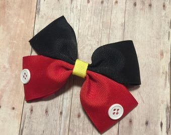 "Disney Mickey Mouse 5"" Hair Bow"