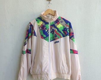 Vintage 90's Prince Zipper Jacket Embroidery Small Logo