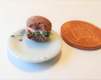 Half Eaten Bread Roll - Miniature Food