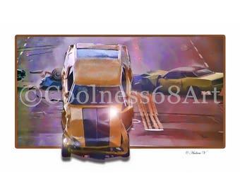 Gone In 60 Seconds 3D Style Original Art Print