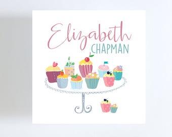Cupcake Gift Tag // Calling Card // Birthday