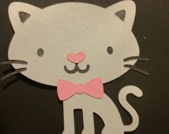 Kitty cupcake toppers /12count one-sided cupcake toppers, Great for Birthday party