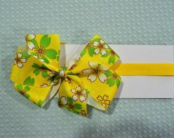 Yellow Floral Baby Headband