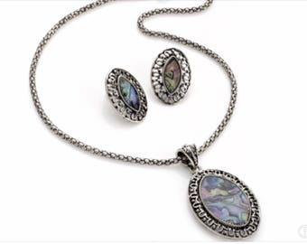 Phoenix Necklace & Earring Set