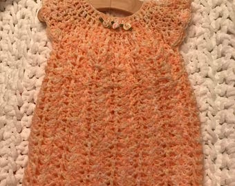 Simple crochet baby dress