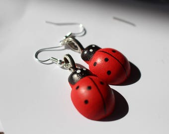 Ladybird ladybug earrings