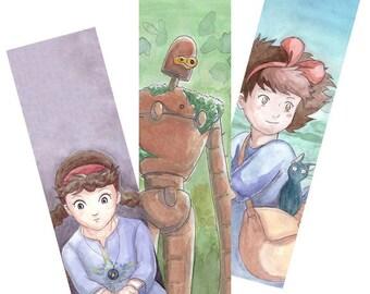 Ghibli Watercolor BOOKMARKS Print