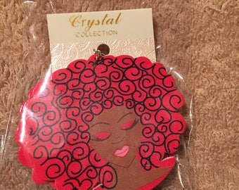 Woooden hand painted Delta Sigma Theta Sorority Incorporated inspired earings