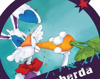 Loving (rabbit, the teasing, eating the carrot from the garden)