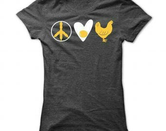 Peace Love and Chickens Tshirt