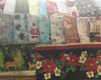 Christmas Fabric Lot / Wilmington Prints