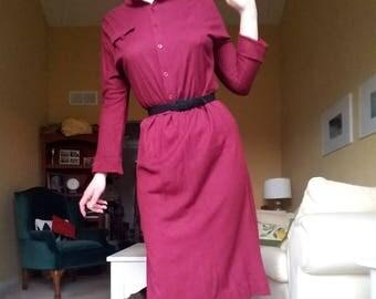1970's maroon dress