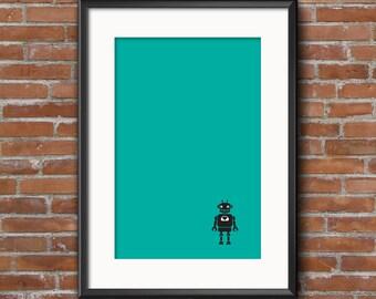 11 x 14 Green Robot