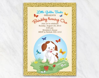 Little Golden Books, Poky Little Puppy Invitation - Printable Digital File