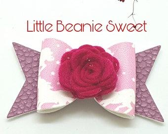 Handmade hair accessories - Belle rose bow