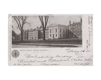 Brown University - Middle Campus in Providence, Rhode Island - Private Mailing Card, pre-1907