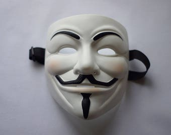 Guy Fawkes V for Vendetta Anonymous mask White Freedom mask