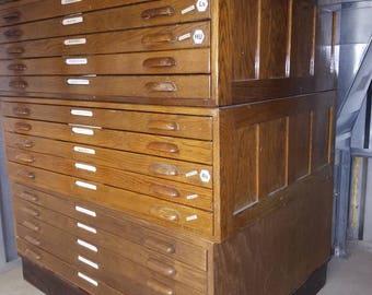 Vintage Hamilton flat File / Map / Blueprint Cabinet