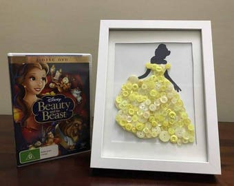 Beauty and the Beast - Belle - Button Art