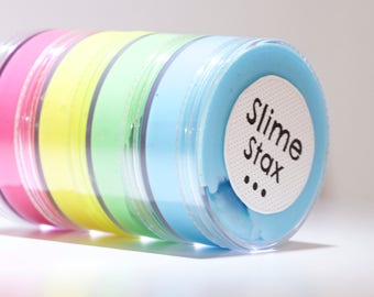 Slime - 4 Pack (Blue Raspberry, Lovely Lime, Sunny Day, Pink Cherry)
