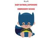 Baby Batman Superhero Babies Embroidery Design | Machine Embroidery Design | Superhero Babies Full Filled Embroidery Design