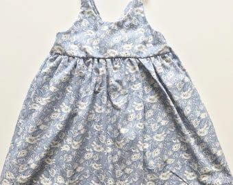 Blue Flower dress toddler girl baby girl dress