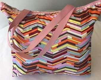 Vintage Le Sportsac Bag Travel Bag Geometric Carry on Bag