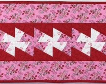 Valentine Twister Table Runner Quilt
