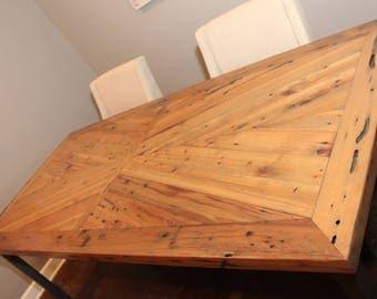 Herringbone Farm Table