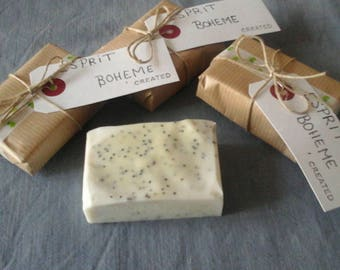 natural SOAP has olive oil with essential oil of niouli
