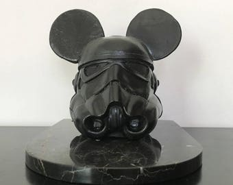 Stormtrooper Mickey helmet, Star Wars, design object, decoration,