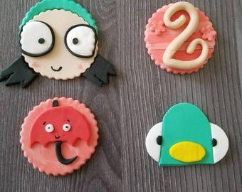 Sarah & Duck Cupcake Toppers