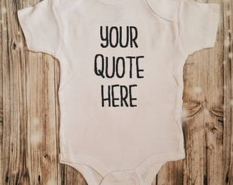 Personalized Baby Bodysuit - Custom Baby Bodysuit - Baby Shower Gift - Custom Baby Shower Gift - Custom Unisex Baby Clothing