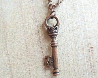 King's Totem // Metal Skeleton Key Necklace