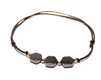 Bracelet Hexagon | Minimalist geometric