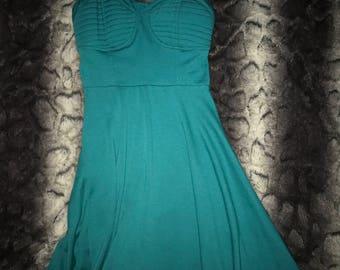 Teal Bustier Dress