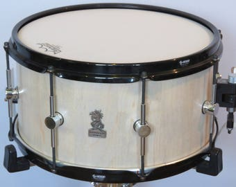 """14""""x7.5"""" Stave Snare Drum, Maple Snare Drum, S hoops, Handmade  Snare Drums, Wooden Snare Drums, Custom Drum, Stave Drums"""