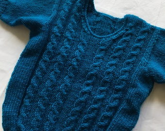 Hand knitted toddler sweater 1-2years