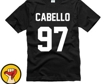 Camila Cabello Shirt 97, Fifth Harmony Clothing, Cabello 97 Tshirt Unisex 100% cotton Band T-Shirts More Colors XS - 2XL
