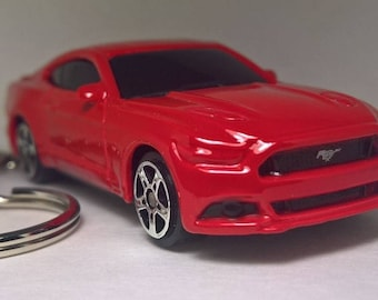 Red 2015 Ford Mustang GT Keychain key chain diecast model car (2014 2016 2017)