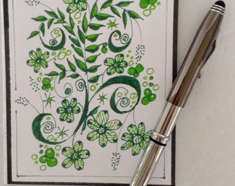 Spring Green Note Cards - blank