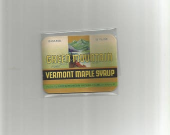 10 New Old Stock Green Mountain Syrup Labels