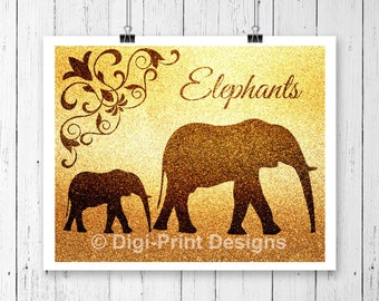 Elephant Gift, Elephant Print for Nursery, Gift for Elephant Lover, Nursery Wall Art, African Wildlife, Nursery Print, Nursery Decor, Poster