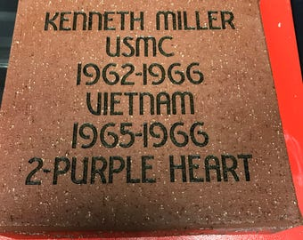 Lazer Engraved memorial brick paver great for fundraiser